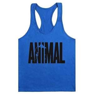 CAMISETA TIRANTES ANIMAL AZUL